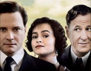Colin Firth, Helena Bonham-Carter y Geoffrey Rush
