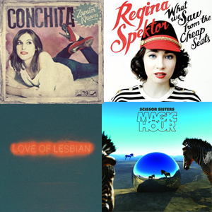Conchita | Regina Spector | Love Of Lesbian | Scissor Sisters