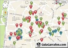 Mapa de bares de Valladolid en guiagarrafon.com