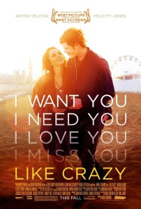 Cartel de Like Crazy