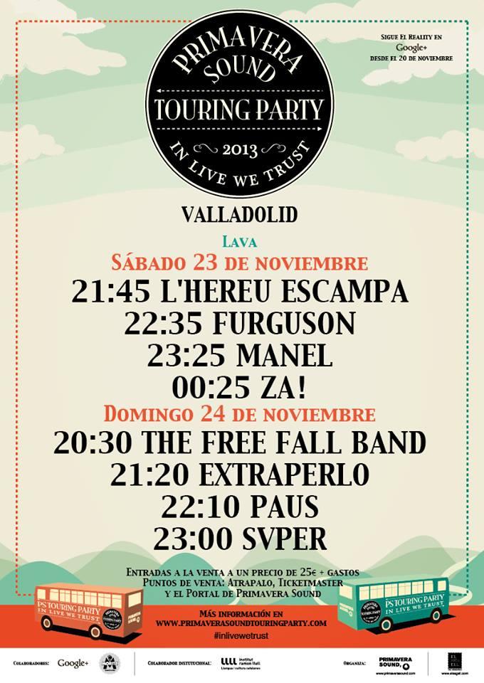 Horarios PSTP2013 Valladolid