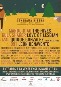 Cartel Sonorama Ribera 2016